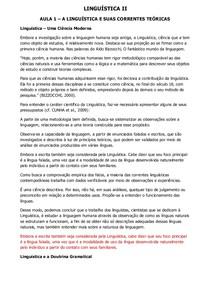 Linguística II - Conteúdo Online