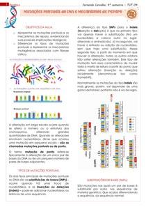 Mutações pontuais e reparo do DNA