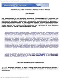 Constituiçao comentada - STF