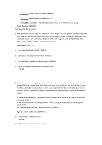prova online matematica financeira doc