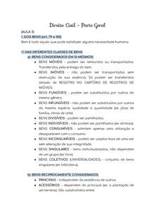 RESUMO - DIREITO CIVIL - DOS BENS (art. 79 a 103)