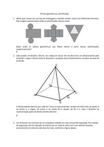 Formas Geométricas - planificação