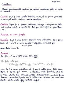 Notas de Aula (Cálculo 1 - Integrais com exercícios resolvidos) - Profª Lorena Brizza - Unidade 3 - 2013.1