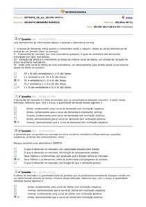 AV APRENDIZAGEM - AULAS 1 - 10 - MICROECONOMIA