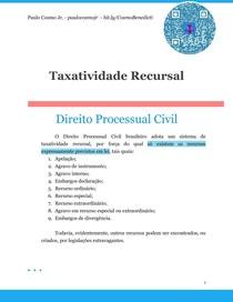 Taxatividade Recursal