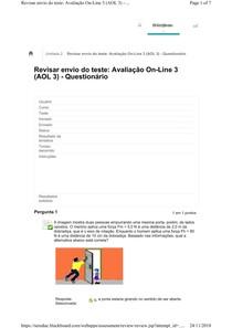 Avaliação On Line 3 (AOL 3)   Questionário