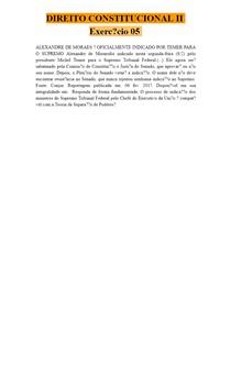 DIREITO CONSTITUCIONAL II - Exercício 05