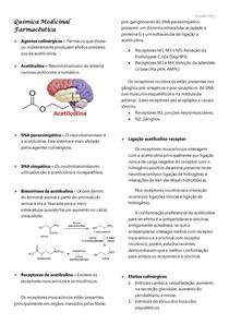 Química Medicinal Farmacêutica - Colinérgicos