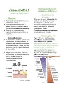 Farmacocinética I: absorção e vias de administração