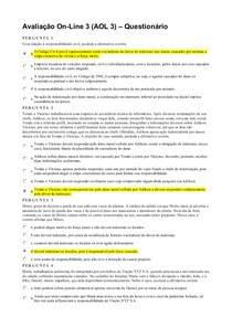 AOL3 - Questionário - Responsabilidade Civil