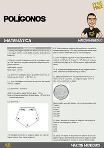 25 QUESTÕES DE POLIGONOS