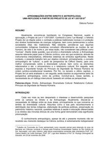 APROXIMAÇÕES ENTRE DIREITO E ANTROPOLOGIA