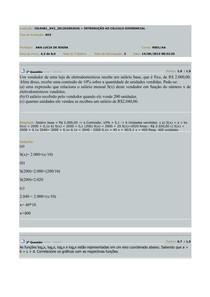 AV2 - INTRODUÇÃO AO CÁLCULO DIFERENCIAL