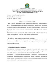 UNIDADE 3.3 - DIREITO ADMINISTRATIVO