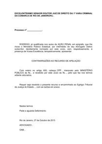 Xix Rodrigo Contra Razões De Apelação Prática Simulada Ii