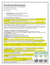 ANATOMOFISIOLOGIA 1   Introdução a fisiologia