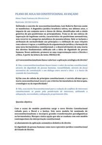 PLANO DE AULA XII CONST AVANÇADO
