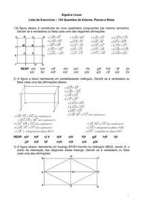 Lista de exercícios de Algebra I