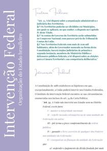 RESUMO - INTERVENÇÃO FEDERAL - CONSTITUCIONAL II