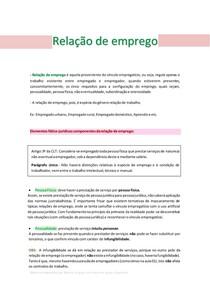 RELAÇÃO DE EMPREGO (Direito do Trabalho)