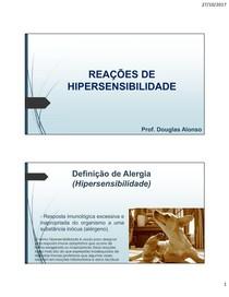 REAÇÕES DE HIPERSENSIBILIDADE - Imunologia Veterinária