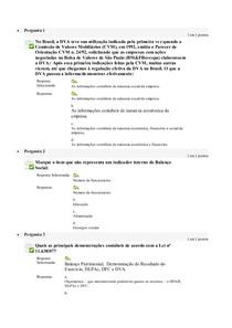 Avaliação On-Line 5 (AOL 5) - Questionário
