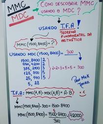 Teorema Fundamental da Aritmética (relação entre MMC e MDC)