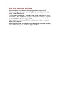 Concurso público - Dicas gerais para provas discursivas