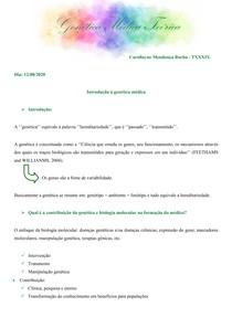 Transcrição Genética Médica Teórica