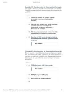 Apol 04 Fundamentos de Sistemas de Informação nota 10 Uninter