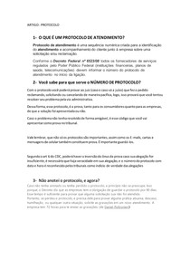 artigo PROTOCOLO DE ATENDIMENTO
