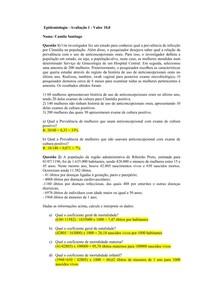 EXERCÍCIOS EPIDEMIOLOGIA