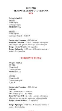 Parâmetros FES e RUSSA