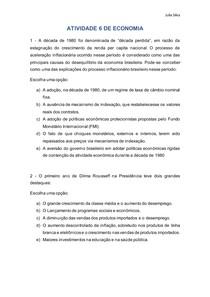 ATIVIDADE 6 DE ECONOMIA