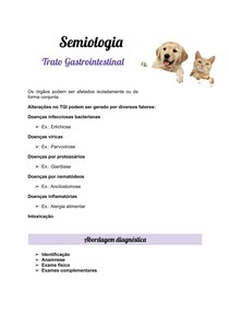 Trato Gastrointestinal (Resumo)