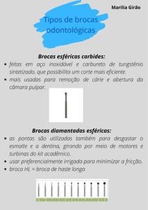 Tipos de brocas odontológicas