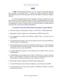 Redes - Introdução SDH