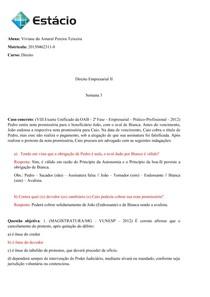 Direito Empresarial II - Caso concreto semana 03
