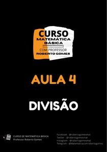 AULA 04 - DIVISÃO - CURSO DE MATEMÁTICA BÁSICA