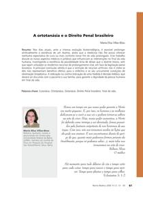 A ortotanásia e o Direito Penal brasileiro - Revista Bioética