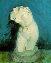 Vincent Willem van Gogh-Gesso Estatueta-de-um-Fêmea-Torso