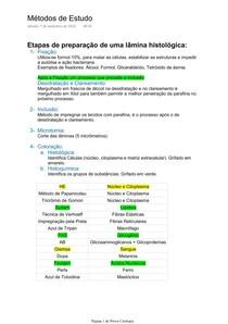 Citologia - Matéria Inicial