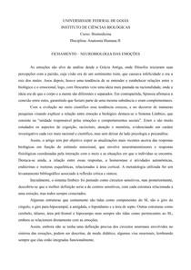 FICHAMENTO NEUROBIOLOGIA DAS EMOÇÕES