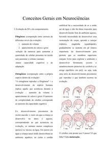 Conceitos Gerais em Neurociências