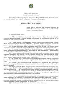 Resolução 1_2002 - Conversão MP para lei