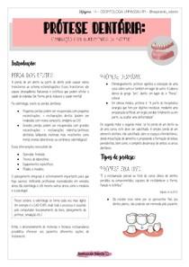 Introdução ao estudo de prótese dentária - Reabilitação Oral
