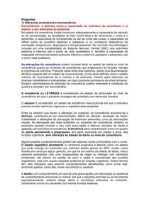 SP4 - VIA NEUROLÓGICA (CONSCIÊNCIA E INCONSCIÊNCIA)