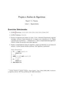 lista2 - Projeto e Analise de Algoritmos