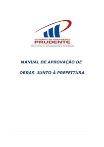 PRES PRUDENTE  MANUAL APROVACAO OBRAS