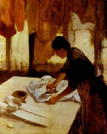 Edgar Degas - A Woman Ironing